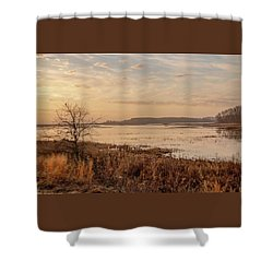 Shower Curtain featuring the photograph Morning At Boombay Hook by Kristia Adams