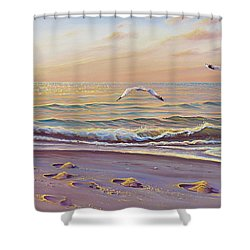 Morning Glisten Shower Curtain