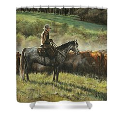 Morning In The Highwoods Shower Curtain