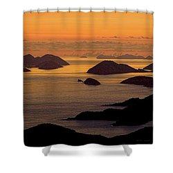 Morning Islands Shower Curtain