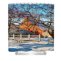 Morning Light, Winter Garden. Shower Curtain