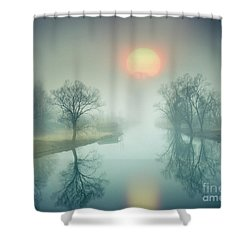 Shower Curtain featuring the photograph Morning Mist by Edmund Nagele