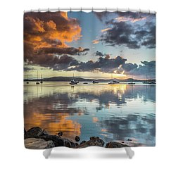 Morning Reflections Waterscape Shower Curtain