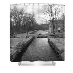 Morris Canal And Lock - Waterloo Village Shower Curtain