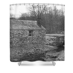 Morris Canal Lock House - Waterloo Village Shower Curtain