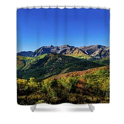 Shower Curtain featuring the photograph Mount Timpanogos by TL Mair