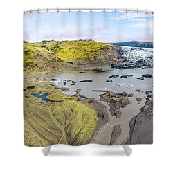 Mountain Glacier Shower Curtain