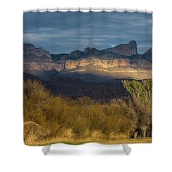 Mountain Illumination Shower Curtain
