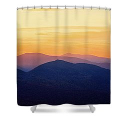 Mountain Light And Silhouette  Shower Curtain
