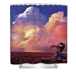 Mountain Thunder Shower Shower Curtain