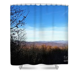 Shower Curtain featuring the photograph Mountains For Miles by Rachel Hannah
