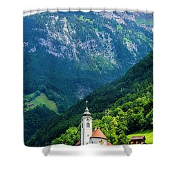 Mountainside Church Shower Curtain