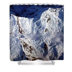Mountaintop Snow Shower Curtain