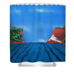 Mouth Of The Hay River Shower Curtain