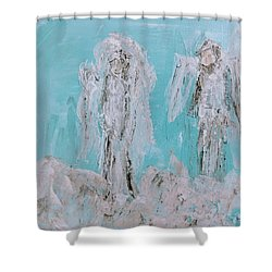 Mr And Mrs Angels Shower Curtain