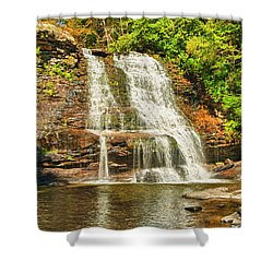 Muddy Creek Falls Shower Curtain