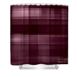 Shower Curtain featuring the digital art Mulberry Plaid by Rachel Hannah