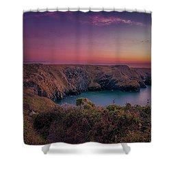 Mullion Cove Cornwall Sunset Shower Curtain