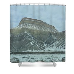 Multi-level Mountains Shower Curtain