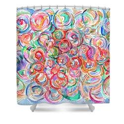 Multicolor Bubbles Shower Curtain