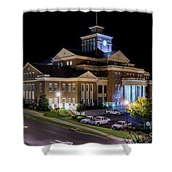 Municipal Center At Night - North Augusta Sc Shower Curtain