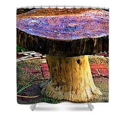 Mushroom Table Shower Curtain