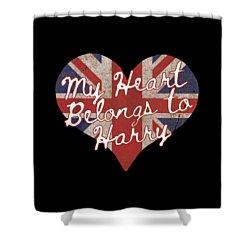 My Heart Belongs To Prince Harry Shower Curtain