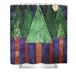 My Love Is A Pine Tree Shower Curtain