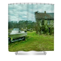 Shower Curtain featuring the photograph Auntie's Old House by Joan Reese