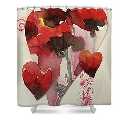 My Valentine Four Shower Curtain