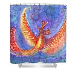 Mystical Phoenix Shower Curtain