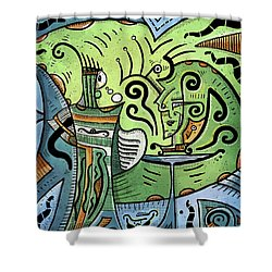 Shower Curtain featuring the painting Mystical Powers by Sotuland Art