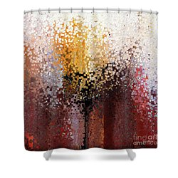 Shower Curtain featuring the painting Nahum 1 7. A Stronghold by Mark Lawrence
