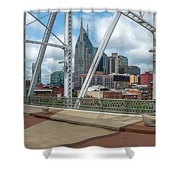 Nashville Cityscape From The Bridge Shower Curtain