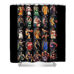 Nba Legends Shower Curtain