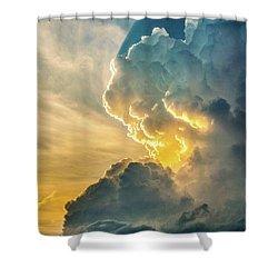 Nebraska Sunset Thunderheads 075 Shower Curtain
