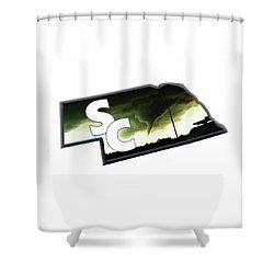 Nebraskasc Logo White Shower Curtain