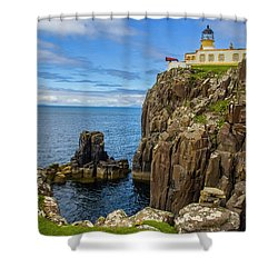 Neist Point Lighthouse Shower Curtain