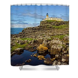 Neist Point Lighthouse No. 2 Shower Curtain