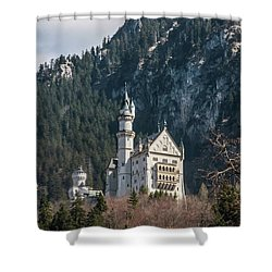 Neuschwanstein Castle On The Hill 2 Shower Curtain