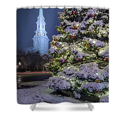 New Snow For Christmas Shower Curtain