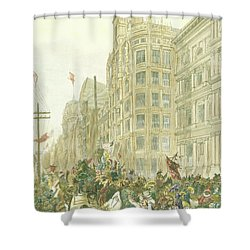 New Years Mummers On Chestnut Street Shower Curtain