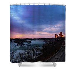 Niagara Falls At Sunrise Shower Curtain