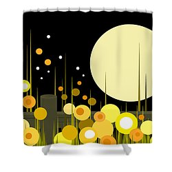 Night Blooming Flowers Shower Curtain