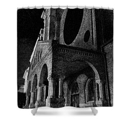 Night Church Shower Curtain