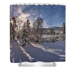 Shower Curtain featuring the photograph No Time Like Snowtime by Edmund Nagele