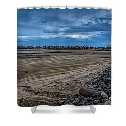 Shower Curtain featuring the photograph No Water Under The Bridge by Jon Burch Photography