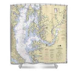 Chesapeake Bay, Cove Point To Sandy Point Nautical Chart 12263 Shower Curtain
