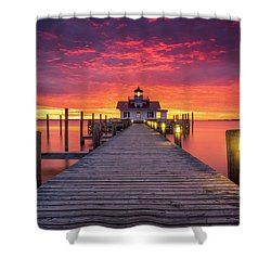 North Carolina Outer Banks Manteo Lighthouse Obx Nc Shower Curtain