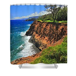 North Hawaii View Shower Curtain